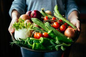 Gemüse Wird Auf Einem Teller Präsentiert