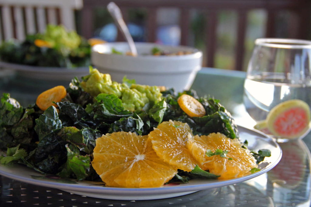 Schwarzkohlsalat mit Orangen