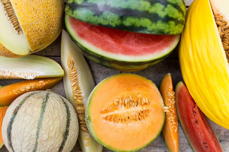 verschiedene Melonenarten