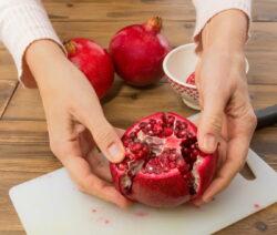 Granatapfel schneiden 2