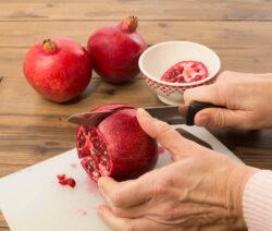 Granatapfel Schneiden 3