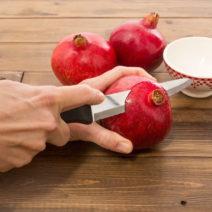 Granatapfel Schneiden Messer