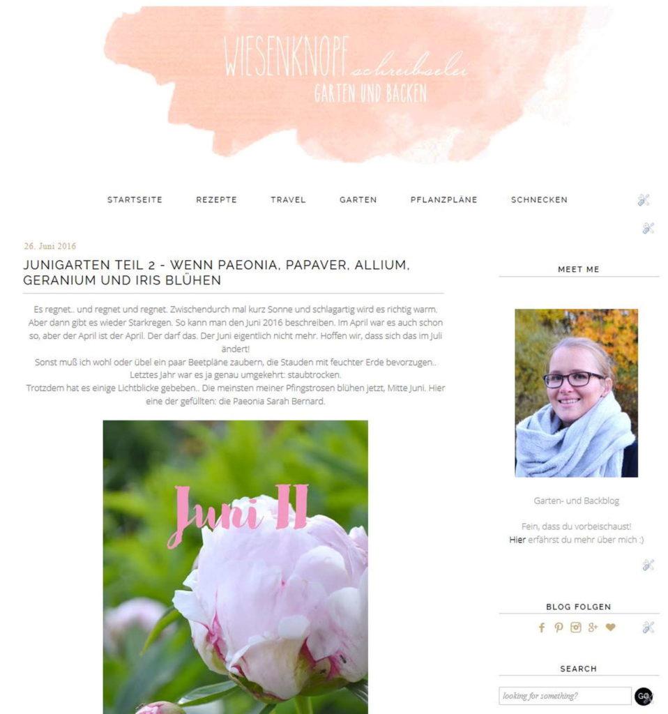 Blog von Tatjana Sprenger wiesenknopf schreibselei