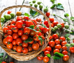 Kirschtomaten Tomaten Im Korb