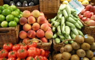Frische Auswahl An Obst Und Gemüse