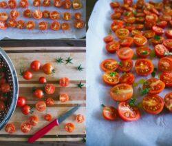 Tomaten Zum Trocknen Vorbereiten