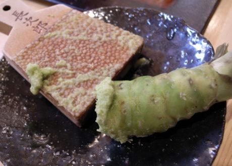 Wasabi In Der Küche Orginal Japanische Reibe