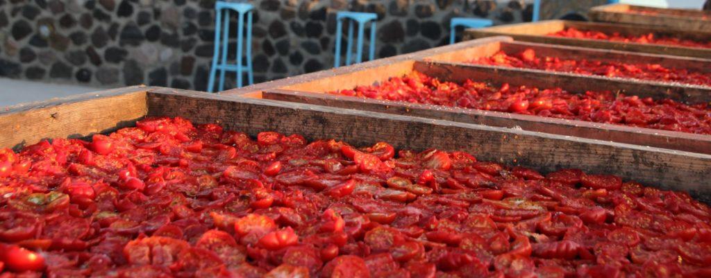 traditionelles Trocknungsverfahren für Tomaten