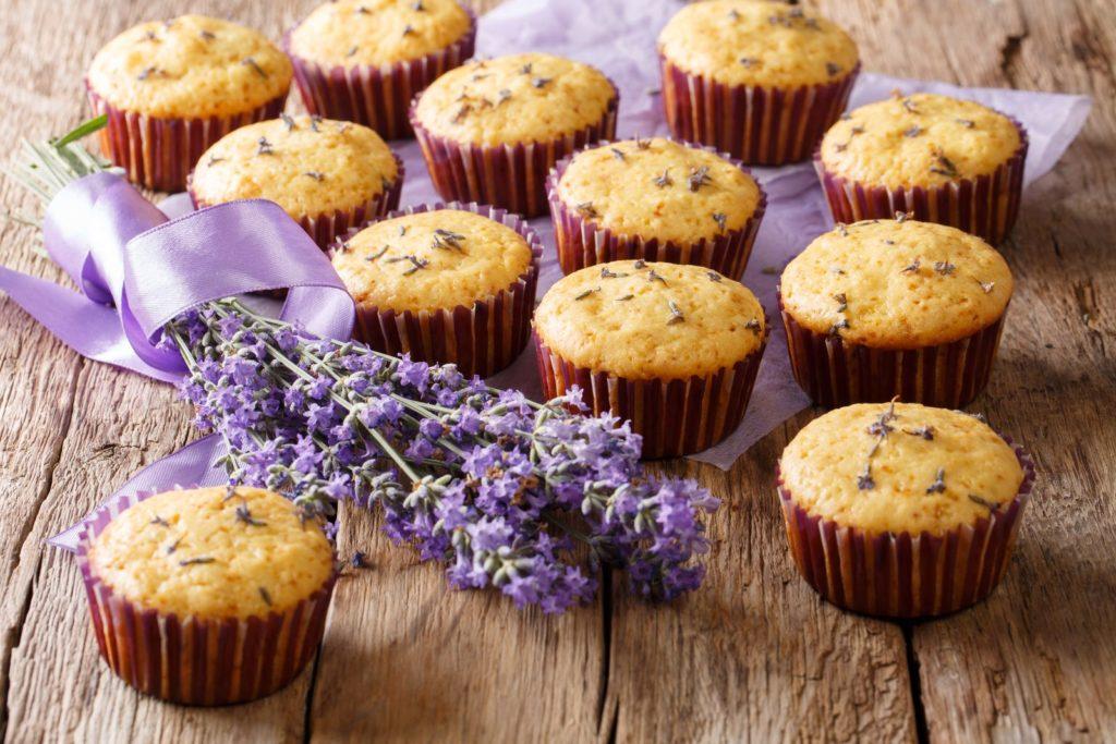 Muffins mit Lavendel