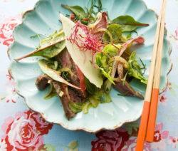 Thaisalat Mit Zitronengras Und Rindfleischstreifen Rezept
