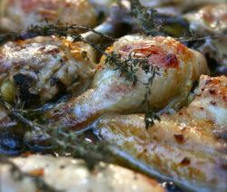 Thymianhuhn Aus Dem Ofen Mit Oliven Rezept