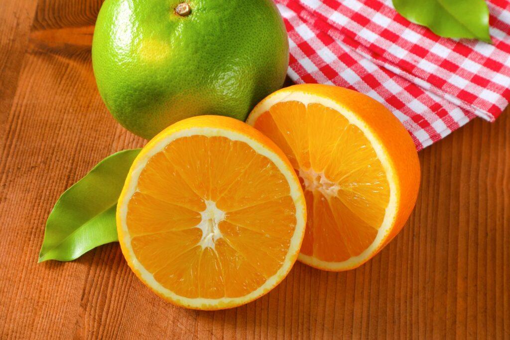 aufgeschnittene Jaffa-Orange