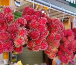 Rambutan Am Markt Hängend