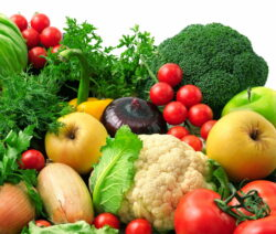 Verschiedenes Gemüse  Und Äpfel