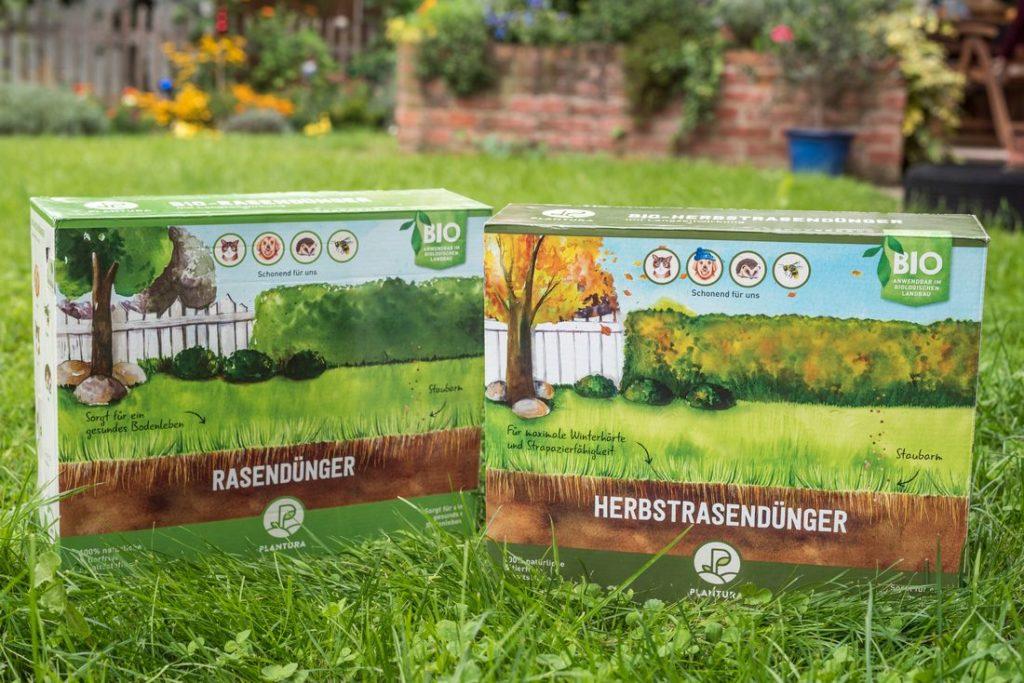 Plantura Bio-Rasendünger und Plantura Bio-Herbstrasendünger