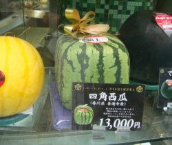 rechteckige quadratische Wassermelone