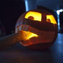 Halloweenkürbis Schnitzen Zigarre Beispiel