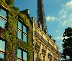 Vertikal Hausfassade Paris