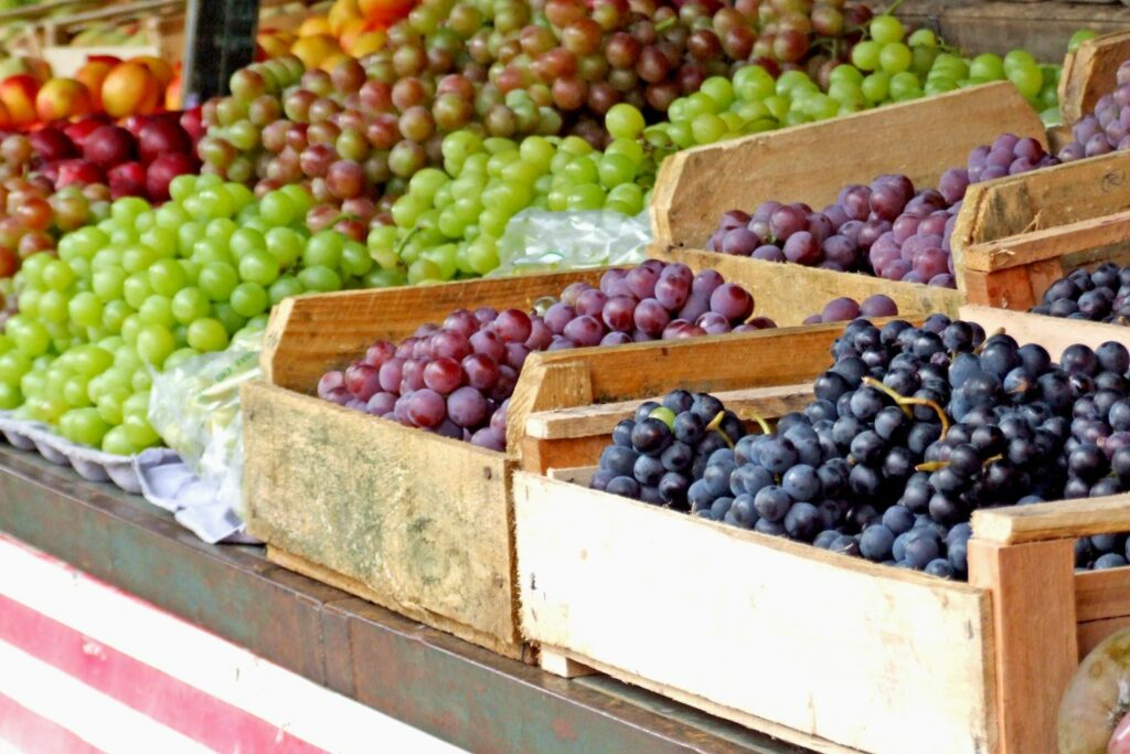 verschiedene Weintrauben-Sorten