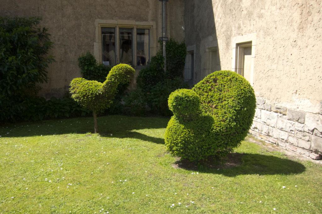 Buchsbaum Formen schneiden Vögel