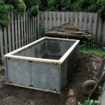 Hochbeet Aus Stein Betonplatten Im Garten