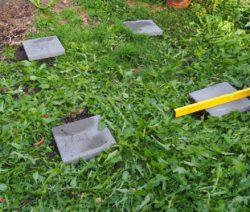 Eckpfosten Hochbeet Im Gras Selber Bauen Wasserwaage