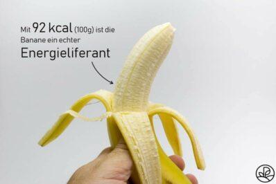 Banane: Kalorien und Nährwerte