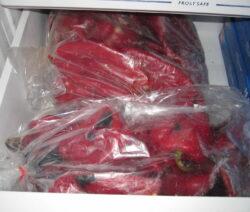 Paprika Einfrieren In Gefrierfach In Gefrierbeutel