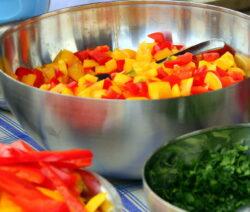 Paprika Geschnitten In Schüssel