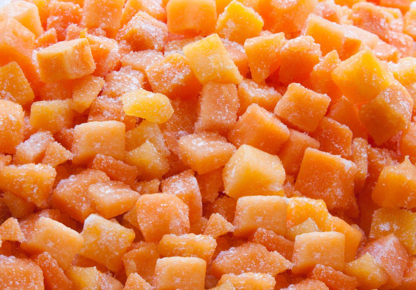 Eingefrorene Karotten