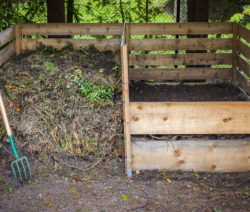 Kompost Komposter Aus Holz Mistgabel
