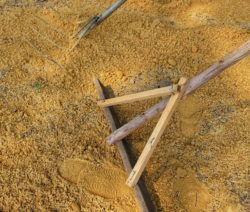 G17-Boden Mit Sand Ebnen