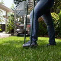 Aerifizieren Rasen Lüften