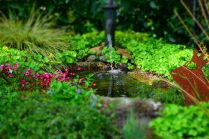 Garten Gartenteich Brunnen
