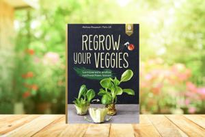Regrow Your Veggies - Buch Vor Grünem Hintergrund