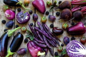 Verschiedenes Violettes Gemüse