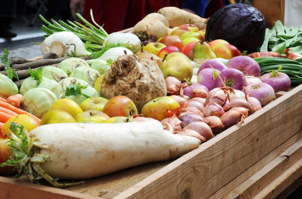 Verschiedenes geerntetes Gemüse