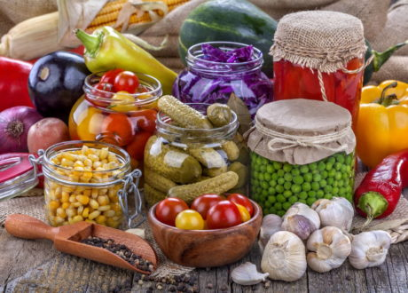Konservieren Von Nahrungsmitteln Speziell Gemüse