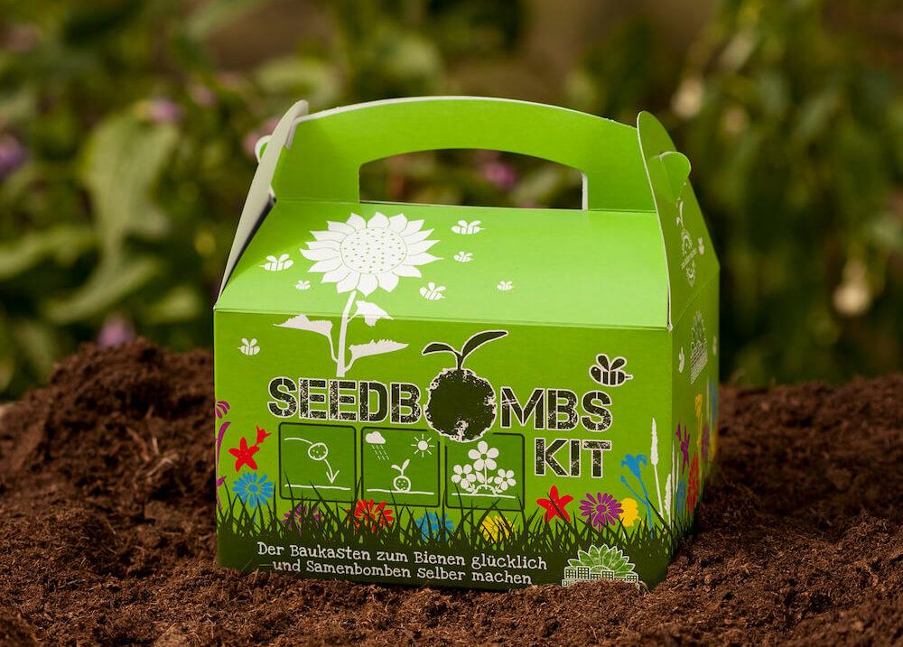 Einsteigerset Samenbomben in grün
