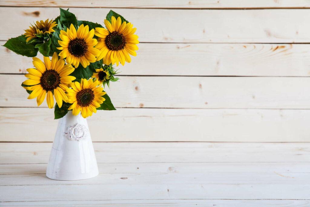 Sonnenblumen in der Vase