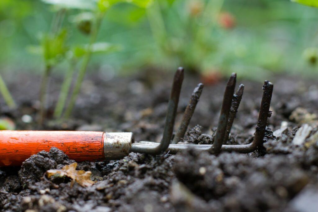 Werkzeug für Humusboden