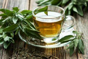 Kräutertee Aus Salbei In Teetasse