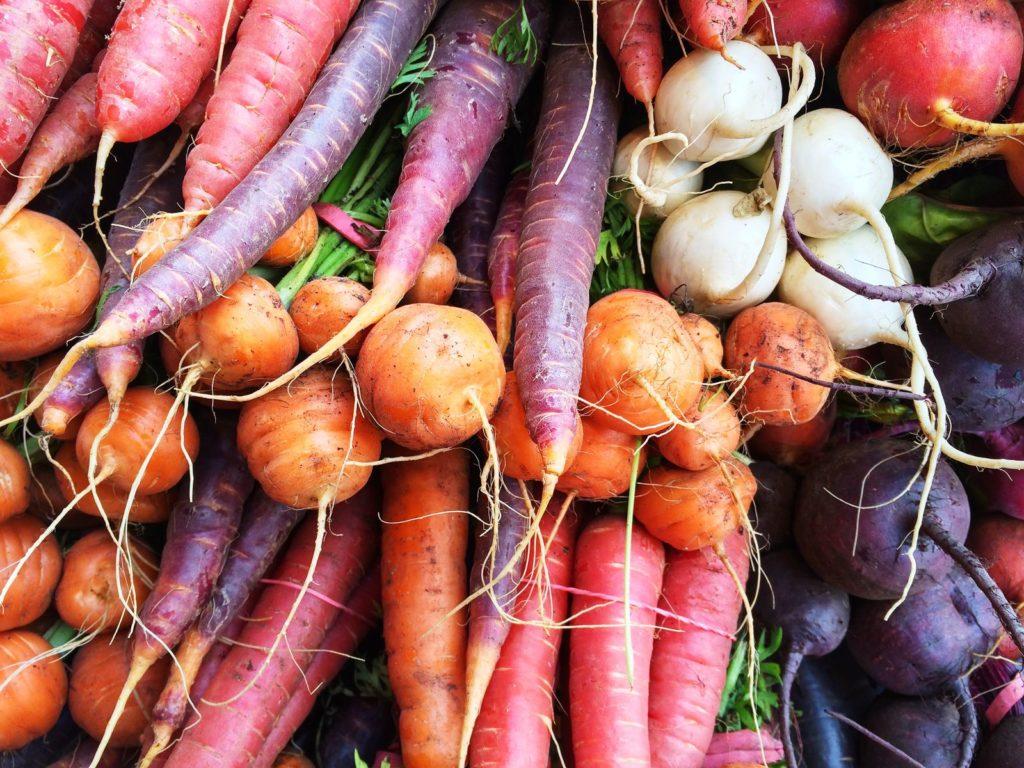 bunte Gemüsesorten