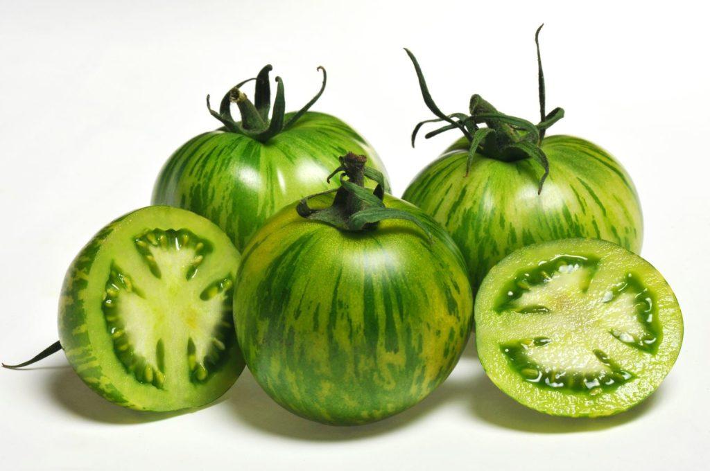 Grüne Zebratomaten