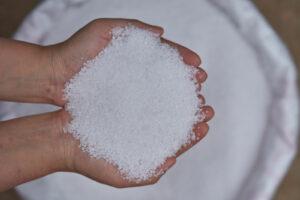 Salz Wird In Händen Gehalten