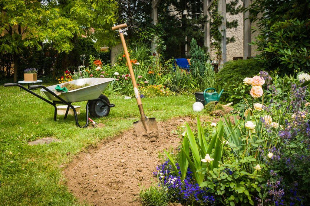 Garten wird umgestaltet