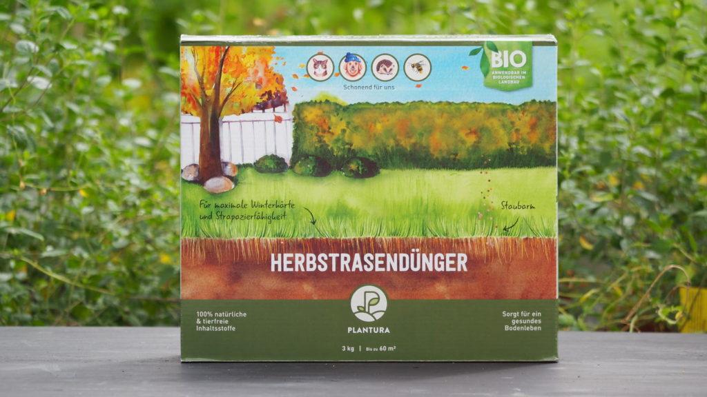 Plantura Bio-Herbstrasendünger Produkt in der Box