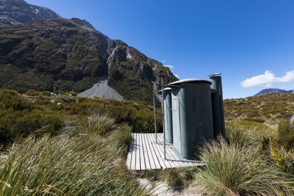 Komposttoiletten in der Wildnis