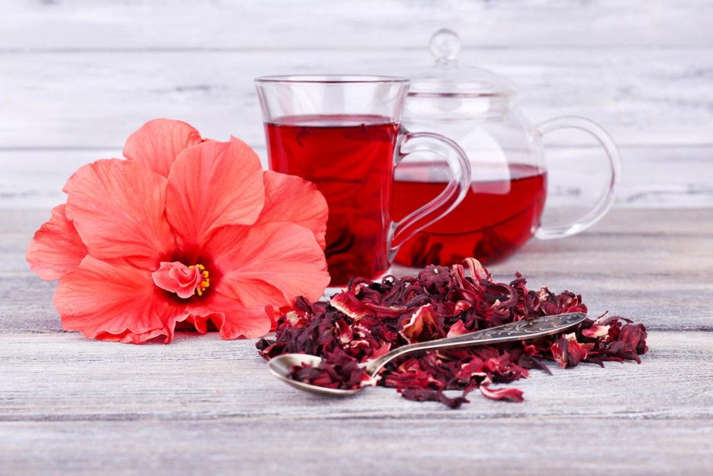Tee aus Hibiskus
