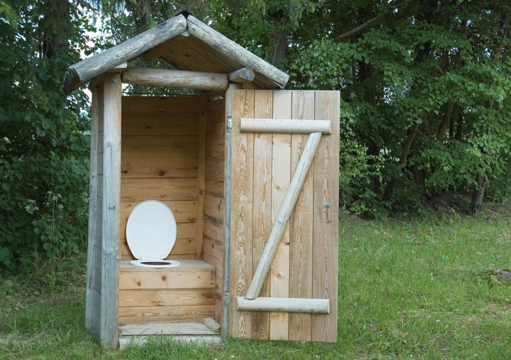 Komposttoilette im Freien